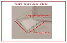 Verre carré base plate +  talon 264 X 264  et 277 x 277 zenith respirator 28800