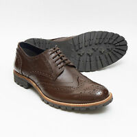 MENS LUCINI LEATHER SMART BROGUE OXFORD STYLE LACE UP SHOES,SIZES 6-11 3818