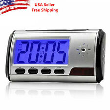 Alarm Clock Camera Mini Video Recorder Hidden Nanny Cam DVR Motion Detection USA