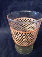 Vintage Decorative Pink Glass Retro