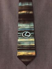 Silk Neck Tie Blue Design on Black by Joanna Alot Ciecholewski NWT