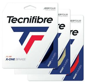 Tecnifibre X-ONE BIPHASE Tennis Racket String - 12m Set - Natural Black Red