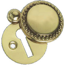 Solid Polished Brass Georgian / Regency Door Key Covered Escutcheon PB542-23/4