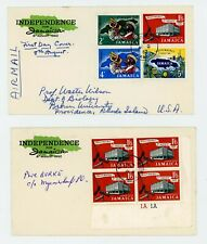 Jamaica 1962 Independence First Day Covers x 4 FDC ....Look!