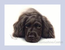 Dog Print Spaniel Waiting Time by Irina Garmashova