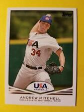 ANDREW MITCHELL - RC ROOKIE USA NATIONAL TEAM #USA-15 NY METS 2011 TOPPS USA