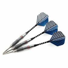 3Pcs Professional Steel Tip Darts Set 24g Barrel+Flight+Shaft Indoor Games Blue