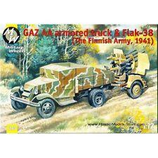 Military Wheels 7243 Armored truck Gaz-aa & Flak-38(Finland 1941) kit 1/72 scale