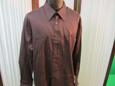 Axist Dress shirt Brand New designer w $42 tags sz XXL 2XL Modern fit brown