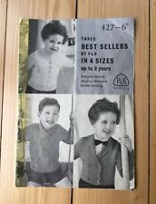 P & B Wools Knitting Pattern Booklet Up To 8 Years Vintage