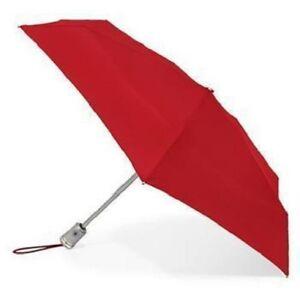 Totes Auto Open Close 'Brella Umbrella  Folding RED