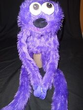 New Fiesta Furry Long Legged Monster Puppets with Hat- Purple