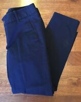 J.CREW Frankie Women's Size 6P 6 Petite Navy Blue Cotton Stretch Pants