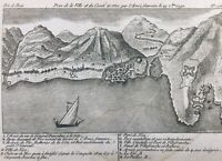 Comté de Nice en 1792 Villefranche Fort Montalban Port de Nice Alpes Maritimes