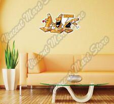 "Three Orange Construction Traffic Cones Wall Sticker Room Interior Decor 25""X16"""