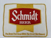 "Vintage X LARGE 8"" x 6"" Schmidt Beer Driver Jacket Patch Logo St Paul MN Brewery"