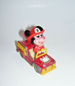 Mickey Mouse Diecast Fire Truck Walt Disney Productions