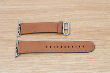 Apple Watch Classic Buckle - Saddle Brown Genuine Apple 42mm 44mm Leather Band