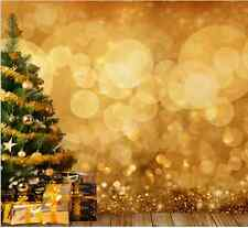 10x10FT Christmas Tree Gifts Golden Spots Light Photo Studio Background Backdrop