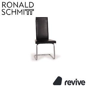 Ronald Schmitt Cuero Silla Negro #15397