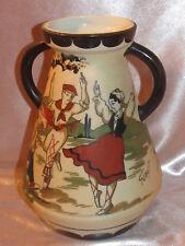 Vase en grès basque de Ciboure signé GAÏTAUD décor de danseurs basques