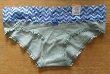 Kohl's SO Intimates Panty Blue Chevron Lace HIPSTER Panties XS Grey Gray NEW