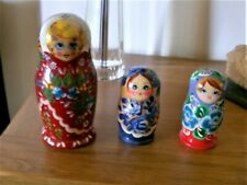 3 Sets of 5 colourful Russian dolls