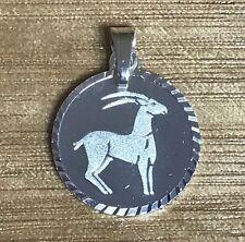 Capricorn Sterling Silver Zodiac Pendant *Horoscope Pendant*
