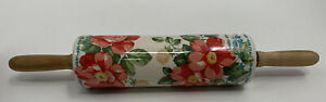 Beautiful Pioneer Woman Vintage Collection Ceramic Rolling Pin Floral EUC
