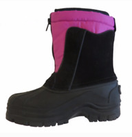New Smith's Kids Waterproof Winter Snow Boots Size 12 - 6 Pink Black