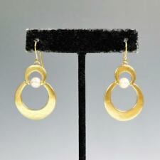 Marjorie Baer Stacked Crescents with Swarovski Pearl Earrings Unique Modern