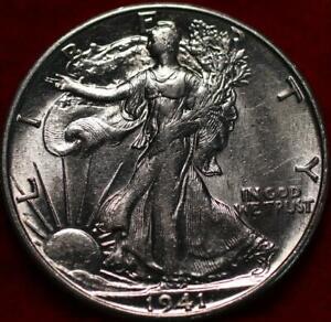 Uncirculated 1941-S San Francisco Mint Silver Walking Liberty Half
