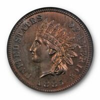 1885 Proof 1c Indian Head Cent NGC PF 64 BN PR Toned Beauty Low Mintage