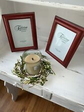 Tabletop Memories Melannco Wood Frame 5x7 Candle Set NOT Included Lot 2 ❤️tw11j