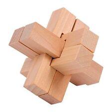 Stern Kreuzung - Satz Puzzlespiel Chinesischer aus Holz 6cm Ca. Neu