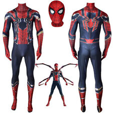 Avengers Infinity War Peter Parker Iron Spider-Man Suit Costume Cosplay Jumpsuit