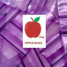Purple 1000 Apple Brand Baggies 1034 2mil Ziplock 1000 Plastic 1x34 Mini Bag