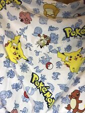Vintage 1995 Pokemon Characters  Original Twin Size Fitted Sheet