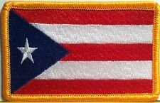 PUERTO RICO Flag Patch With VELCRO® Brand Fastener Military Emblem #5