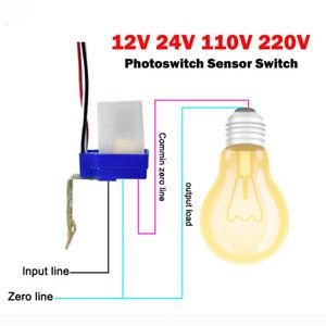 Dämmerungssensor Dämmerungsschalter 12V 24V 220V 10A Lichtsensor Twilight Switch