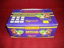1993 - RARO BOX ALBUM FIGURINE NINTENDO SUPER MARIO CHIUSO 100 BUSTINE + PANINI