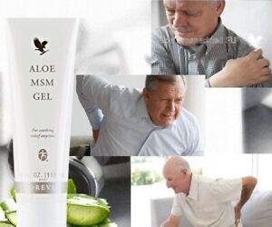 FOREVER ALOE  MSM Gel - Relief Pain & Joints Arthritis 4 oz Body massage Gel