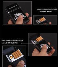 USB Rechargeable Lighter Cigarette Case Holder