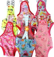 CUTE Dog Puppy Diaper Sanitary Pants Suspenders Stay On For SMALL Pet XXS - XL