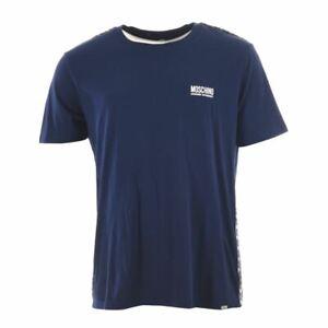 MOSCHINO T-Shirt Navy Under Where Cotton Size 2XL MA 252
