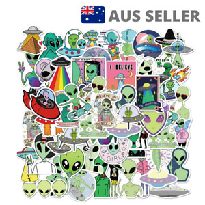 Alien UFO Assorted Stickers   Pack of 50