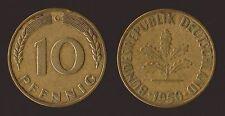 GERMANIA GERMANY 10 PFENNIG 1950 G