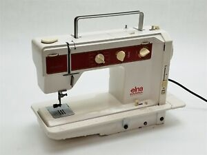 Vintage Elna Carina Electronic Type 66 Duplex Sewing Machine Made in Switzerland