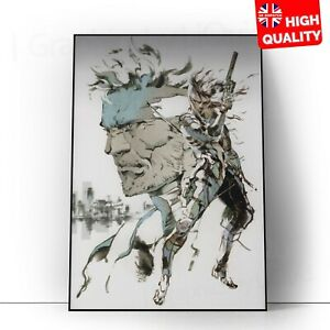 Metal Gear Solid Snake Video Game Poster Print | A5 A4 A3 A2 A1 |