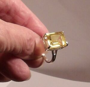 92.5 Sterling Silver Ring,Natural Raw Uncut Tiny Diamonds Natural Yellow Sapphire Ring Antique Victorian Design